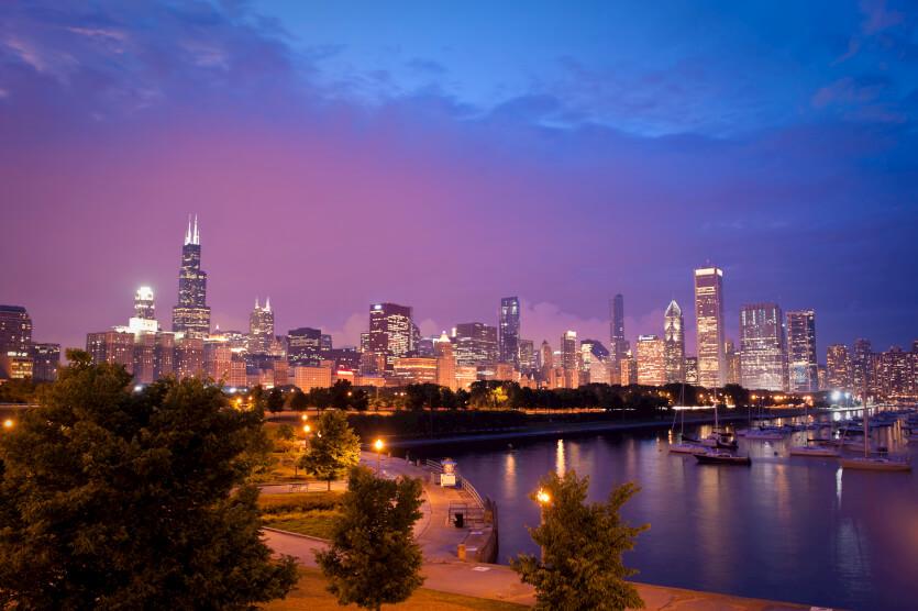 芝加哥的天空中心