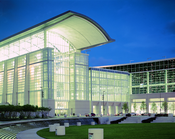 The entrance of McCormick Place